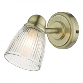 Dar lighting Cedric Antique brass wall light