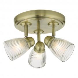 Dar lighting Cedric Antique brass spotlight IP44