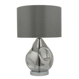 Dar Quinn smoked table lamp