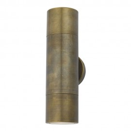 Dar Ortega 2 light Aged brass IP65
