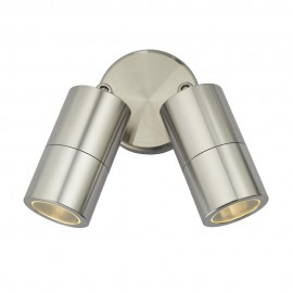 Dar Ortega 2 light directional Brushed silver IP65