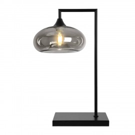 Eden POWER  Table Lamp in Black with Smoked Mushroom