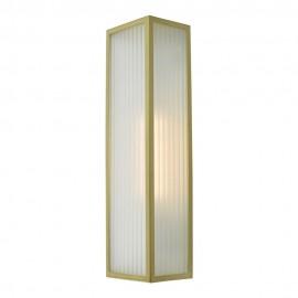 Dar Keegan IP44 Wall light satin brass