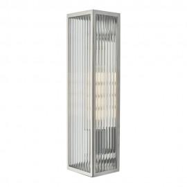 Dar Keegan IP44 Wall light polished stainless steel