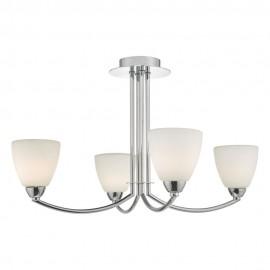 Dar Edanna 4 light IP44 bathroom ceiling light