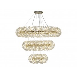 Allium 74 Light 3 Tier Pendant French Gold