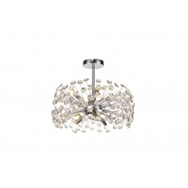 Allium 8 Light Semi Flush Chrome