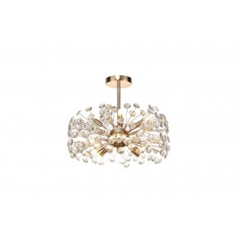Allium 8 Light Semi Flush French Gold