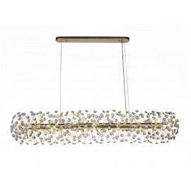 Allium 14 Light Oblong Pendant French Gold