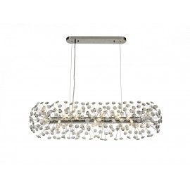 Allium 10 Light Oblong Pendant Chrome