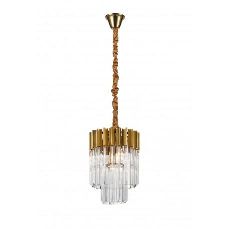 Venetian 4 Light in Brass and Glass