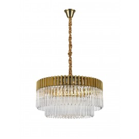 Venetian 12 Light Pendant Brass And Glass