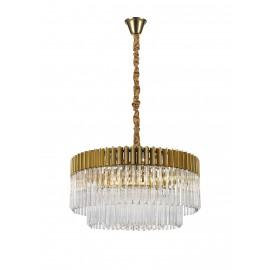 Venetian 12 Light Pendant Brass And Glass