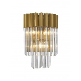 Venetian 3lt Wall Light in Brass and Glass