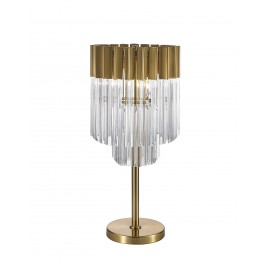 Venetian 3 Light Table lamp in Brass and Glass
