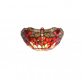 Red Dragonfly Tiffany wall light