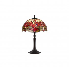 Red dragonfly tiffany medium table lamp