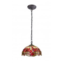 Red dragonfly mini table lamp