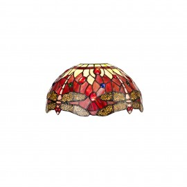 Red dragonfly tiffany non electric shade only