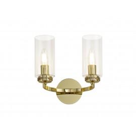 Dana 2 Light Wall Light Polished Brass