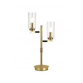 Dana 2 Light Table Lamp Polished Brass