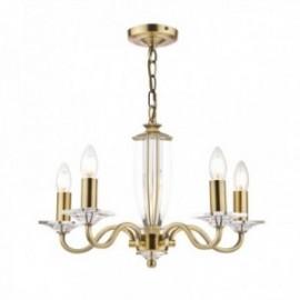 Carson Antique Brass 5 Light Chandelier