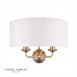 Sorrento Antique Brass Wall Light with Ivory Shade