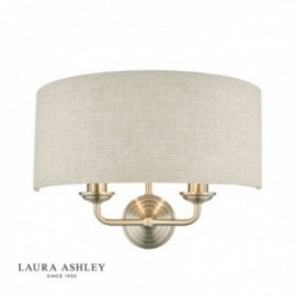 Sorrento Brushed Chrome Wall Light with Natural Shade
