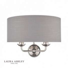 Sorrento Polished Nickel Wall Light with Charcoal Shade