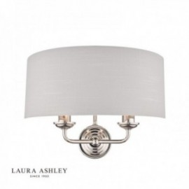 Sorrento Polished Nickel Wall Light with Silver Shade