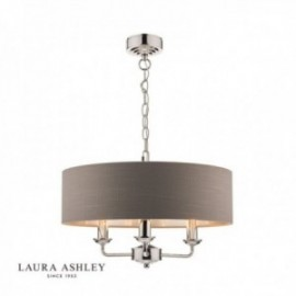 Sorrento Polished Nickel Ceiling Light with Charcoal Shade