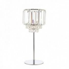 Vienna Crystal & Polished Chrome Table Lamp