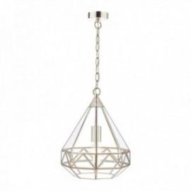 Zaria Polished Nickel 1 Light Lantern