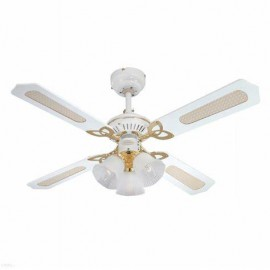Westinghouse Princess Trio 42 Inch white and polished brass finish