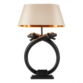 DAVID HUNT LIGHTING panther table lamp black